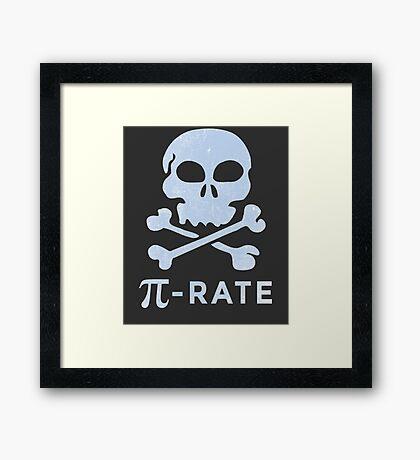 PI DAY Humor Pi-Rate Framed Print