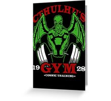 Cthulhu´s Gym Greeting Card