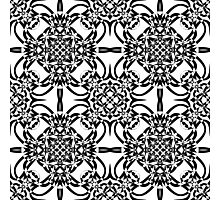 black and white vintage pattern Photographic Print