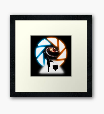 Space Portal Framed Print