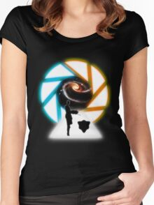 Space Portal Women's Fitted Scoop T-Shirt