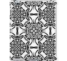 black and white vintage pattern iPad Case/Skin