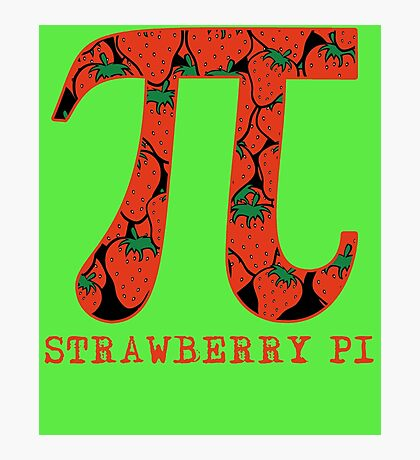 Strawberry Pi Photographic Print