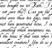 Captain Wentworth's Letter Sticker