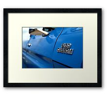 1977 Ford F 150 Custom Name Plate Framed Print