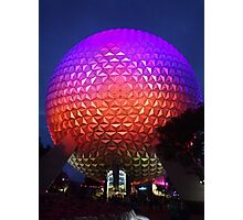 Epcot Spaceship Earth Photographic Print