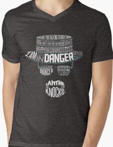 I´m the who knocks - Breaking Bad Walter White Design Mens V-Neck T-Shirt
