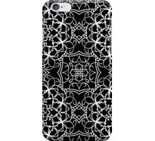 black and white vintage pattern iPhone Case/Skin