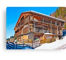 Austria - farmhouse in Tirol Canvas Print