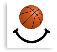 Basketball Smile Canvas Print