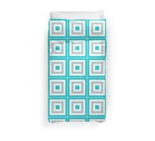 Blue Gray And White Blocks Duvet Cover