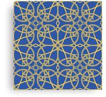 gold vintage pattern Canvas Print