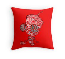Invader Zim - Gir DOOM 2 Throw Pillow