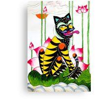 Blackie, the cheeky tiger Canvas Print