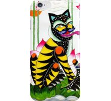 Blackie, the cheeky tiger iPhone Case/Skin