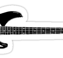 Bass Guitar Sticker