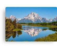 Mount Moran on Snake River - Grand Teton National Park Canvas Print