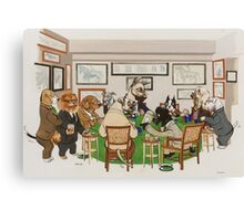 Gentlemens Poker Canvas Print
