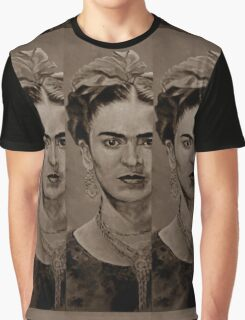 FRIDA KAHLO - sepia Graphic T-Shirt