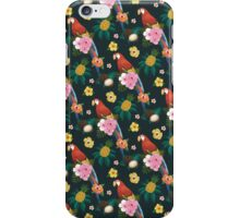 Tropical Parrot Pattern iPhone Case/Skin