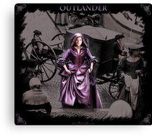 Claire in Purple Canvas Print
