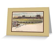 1890s Melbourne Cricket ground litho Greeting Card