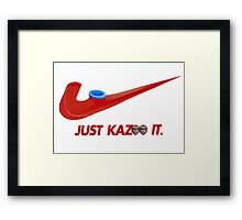 Kazoo kid - Just Kazoo It (Nike style) (faced) Framed Print
