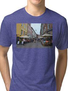 Copenhagen Sidewalk Cafes Tri-blend T-Shirt