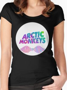 Arctic Monkeys - Logo (Psychedelic / White)  Women's Fitted Scoop T-Shirt