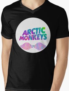 Arctic Monkeys - Logo (Psychedelic / White)  Mens V-Neck T-Shirt