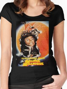 A Clockwork Orange French Poster Women's Fitted Scoop T-Shirt