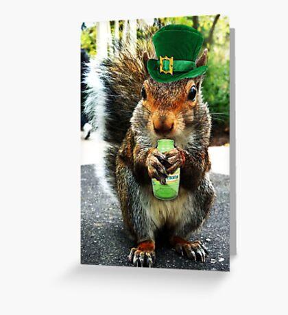 drunk squirrel Greeting Card