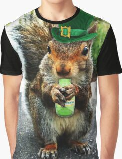 drunk squirrel Graphic T-Shirt