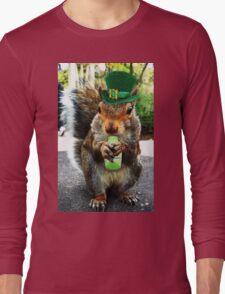 drunk squirrel Long Sleeve T-Shirt