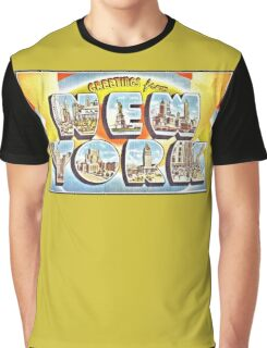 Greetings from New York Forties Fifties style Graphic T-Shirt