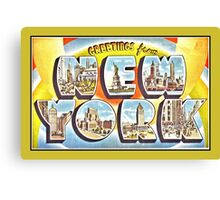Greetings from New York Forties Fifties style Canvas Print