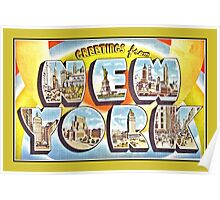 Greetings from New York Forties Fifties style Poster
