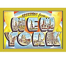Greetings from New York Forties Fifties style Photographic Print