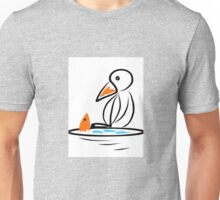 Penguin and fish Unisex T-Shirt