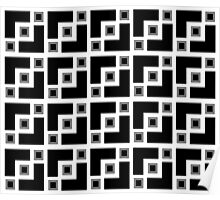 Black And White Geometric  Poster