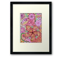 Psychedelic flowers Framed Print
