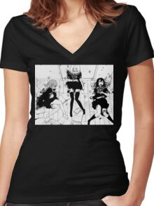 Dead Anime Girls Women's Fitted V-Neck T-Shirt