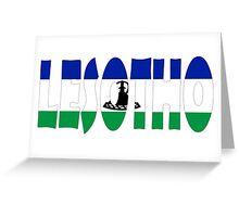 Lesotho Greeting Card