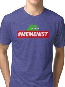 Memenist Meme Meninist Feminist Parody Tri-blend T-Shirt