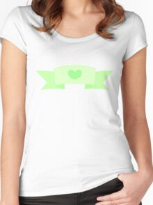 Heart banner- Green Women's Fitted Scoop T-Shirt