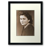 Haunting Portrait of an Anonymous German Woman during WW2 Framed Print