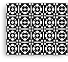 Black White Abstract Pattern Canvas Print