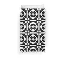 Black White Abstract Pattern Duvet Cover