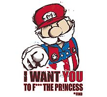 Uncle Mario - I Want You To F*** The Princess Photographic Print