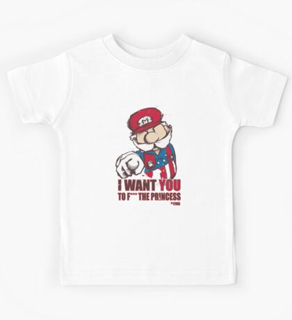 Uncle Mario - I Want You To F*** The Princess Kids Tee